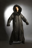 Sheepskin coat winter clothes fashion Stock Photo