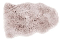 Sheepskin isolated on white Royalty Free Stock Photography