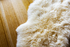 Sheepskin Rug Royalty Free Stock Photos