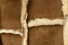 Sheepskin sheepskin που ράβεται στοκ εικόνες με δικαίωμα ελεύθερης χρήσης