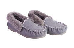 Sheepskin warm shoes Stock Photography
