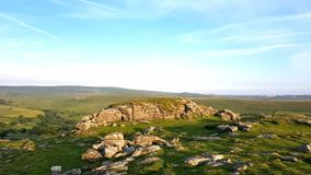 Sheepstor looking east over Dartmoor National Park, Devon stock photography