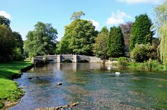 Sheepwash bridge, Ashford-in-the-Water. Stock Photos