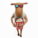 Sheepy - 3d cinema Stock Image