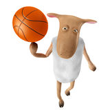 Sheepy - Basketball Vektor Abbildung