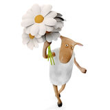 Sheepy con las flores libre illustration