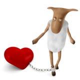 sheepy förälskelse royaltyfri illustrationer