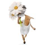 Sheepy mit Blumen Lizenzfreies Stockbild