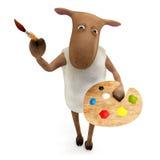 Sheepy painting Royalty Free Stock Photo