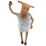Sheepy - saludo Imagenes de archivo
