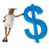 Sheepy und Dollar Stockfoto