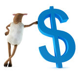 Sheepy y dólar stock de ilustración