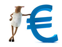 Sheepy y euro stock de ilustración