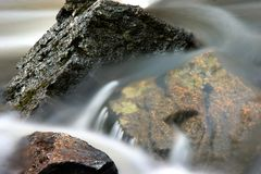 Sheer Beauty. Veiled water flow over rocks Stock Photography