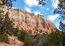 Sheer Cliffs around Echo Amphitheater. Echo Amphitheater is a natural, colorful geological feature combined with unusual auditory properties located in Tierra royalty free stock image