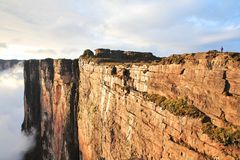 Sheer cliffs of Mount Roraima royalty free stock photos