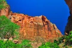 Sheer cliffs at Zion NP Stock Photo