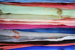Sheer fabric in layers stock image