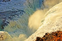 The Sheer Power Of Gulfoss - Iceland Stock Photography