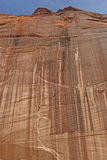 Sheer Red Rock Wall in the Desert Stock Photos