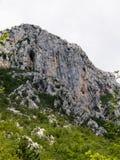 Sheer rock, looking like steep mountain wall Royalty Free Stock Photography