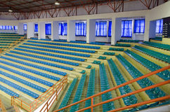 Sheer seats. Arranged in a row and sheer sport indoor royalty free stock photos