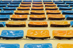 Sheer seats. Arranged in a row and sheer sport indoor royalty free stock photo