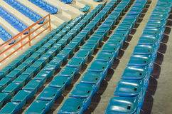 Sheer seats. Arranged in a row and sheer sport indoor stock photo