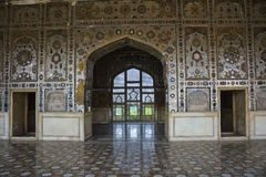 Sheesh fuerte interior de Mahal Lahore Fotos de archivo libres de regalías