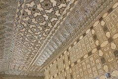 Sheesh Mahal en Amber Fort, Jaipur, Rajasthán, la India Fotografía de archivo