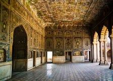 Sheesh palazzo di Mahal nella fortificazione di Lahore, Pakistan Fotografia Stock