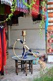 A sheesha outside a shop. In Turkey Stock Images