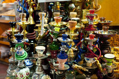 Sheeshas au bazar couvert, Istanbul Images stock