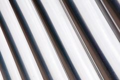 Sheet of aluminum gate wavy Royalty Free Stock Photo
