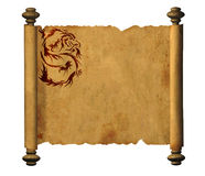 Sheet of ancient parchment Royalty Free Stock Images