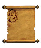 Sheet of ancient parchment Stock Image