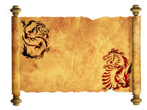 Sheet of ancient parchment royalty free illustration