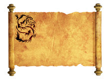 Sheet of ancient parchment Royalty Free Stock Photos