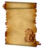 Sheet of ancient parchment stock illustration