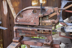Sheet bending machine (Abkantpresse) Royalty Free Stock Photos