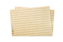Paper. Sheet of blank paper isolated on white background stock photo