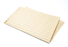 Paper. Sheet of blank paper isolated on white background Stock Photography