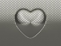 Sheet of brushed metal with circular shape Stock Images