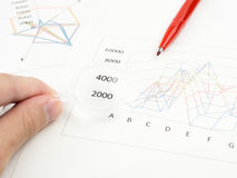 A sheet of business charts paper Royalty Free Stock Photography