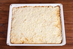 Sheet cake, Coconut cake Royalty Free Stock Images