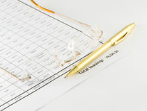Sheet calculation Stock Photo