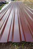 Sheet of chocolate roofing iron Royalty Free Stock Photos