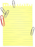 Sheet with Clips Stock Photography
