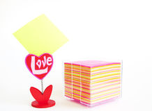 Sheet of colored paper Stock Image