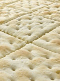 Sheet of Crackers perspective Royalty Free Stock Photography